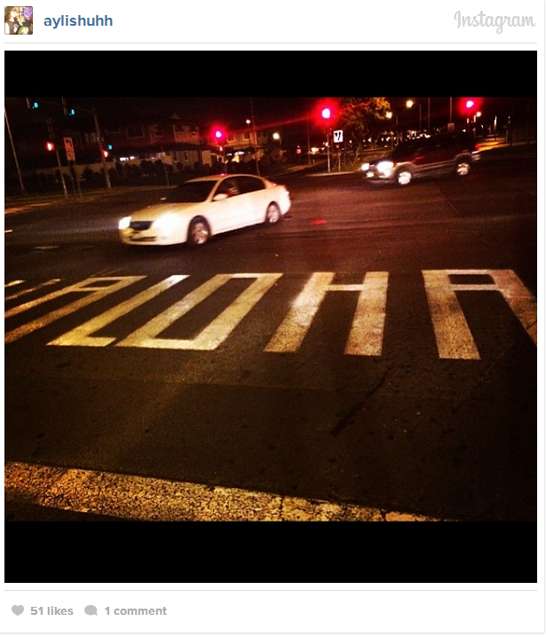 Someone paints 'Aloha' on a crosswalk. City not amused.